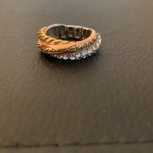 Guess three tone stretch ring